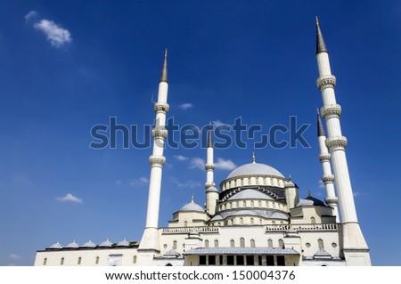 Kocatepe Mosque, Ankara, Turkey. - stock photo