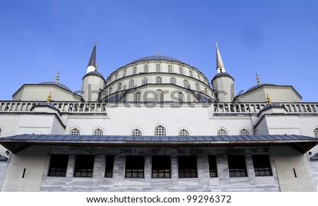 Kocatepe Mosque -details in Ankara, the capital city of Turkey - stock photo