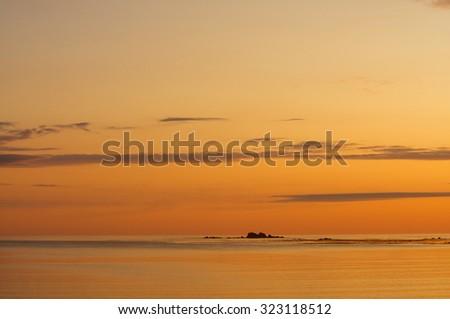 Kodiak, Alaska sunrise - stock photo