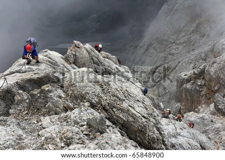 Koenigsjodler Ridge, Austrian Alps - stock photo