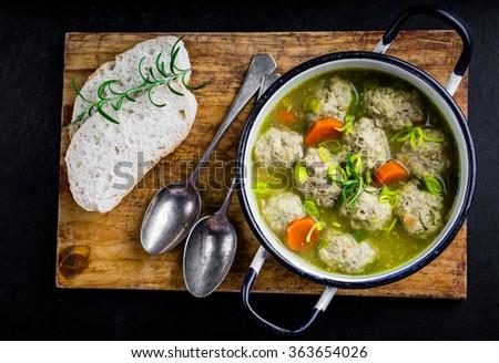Koftas or meatballs, in a mild creamy curry sauce - stock photo