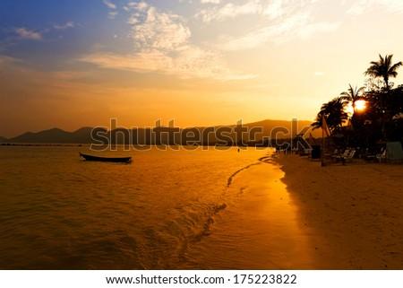 Koh Samui sunset, Chaweng - stock photo