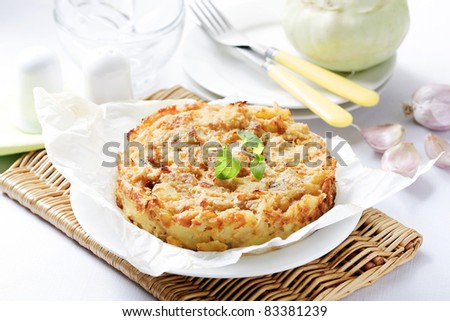 kohlrabi bake - stock photo