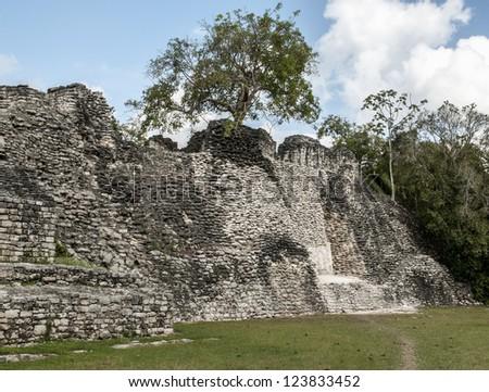 Kohunlich Mayan ruins - stock photo