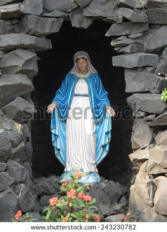 KOLKATA, INDIA - JANUARY 26: Our Lady of Lourdes, Prem Dan, one of the houses established by Mother Teresa and run by the Missionaries of Charity in Kolkata, India on January 26, 2009. - stock photo