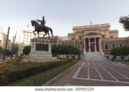 Kolokotronis statue,Old parliament,Athens,Greece - stock photo