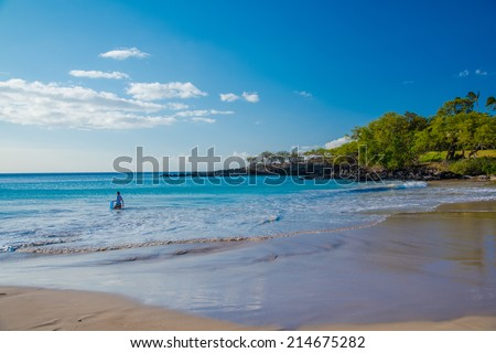 Kona beach   - stock photo