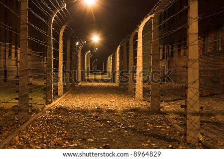 Konzentrations lager Auschwitz-Birkenau-all Souls day - stock photo