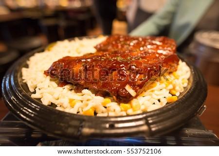 Korean Bbq Pork Ribs With Cheese