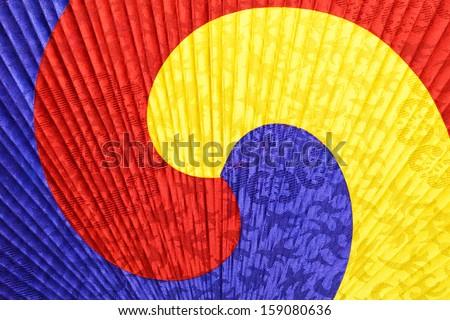 Korean fan pattern - stock photo