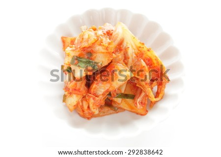 Korean food, Chinese cabbage kimchi - stock photo