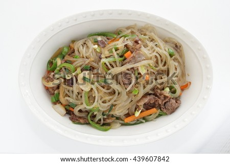 Korean food, Japchuen - stock photo