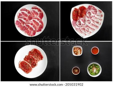 Korean food set for design work - stock photo