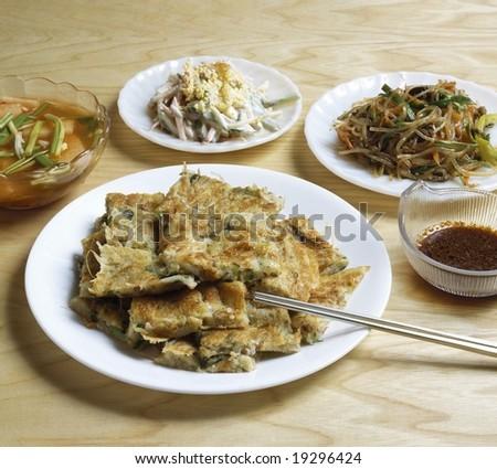 Korean Pancake - stock photo