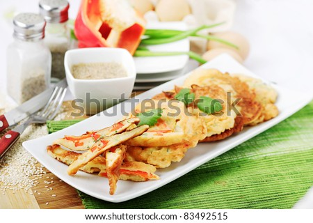 Korean pancakes - stock photo
