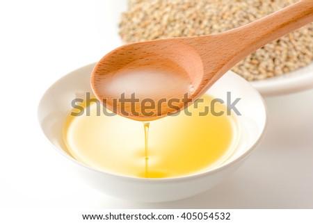 Korean perilla oil - stock photo