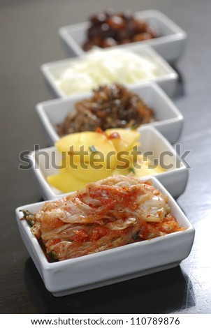 Korean side dishes - stock photo
