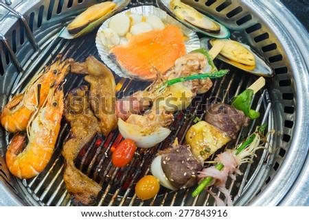 Korean style mix grilled - stock photo