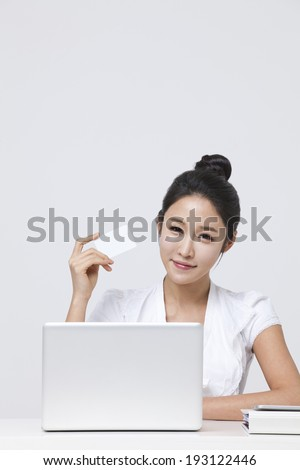 Korean woman shopping online