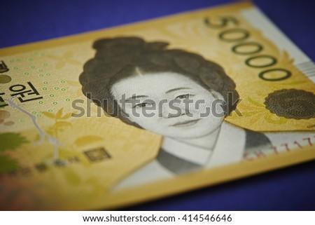 Korean 50000 won bill - stock photo