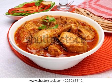 Korma Chicken-5 - stock photo