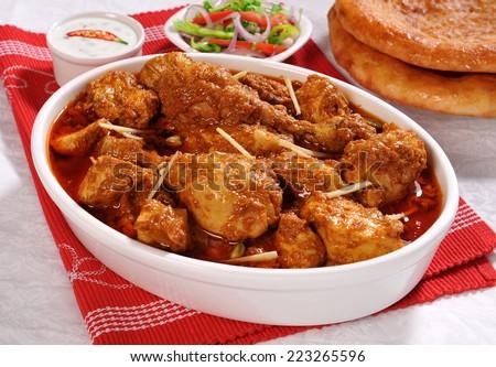 Korma Chicken-1 - stock photo