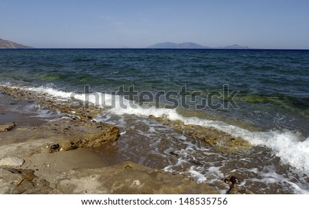 Kos island in Grece, a coast and seascape view