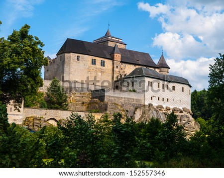 Kost castle near Turnov (Czech Republic) - stock photo