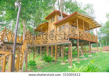 KOTA KINABALU,SABAH,MALAYSIA-January 8,2017: Borneo Tree House Resort, the new destination for holiday in Sabah.