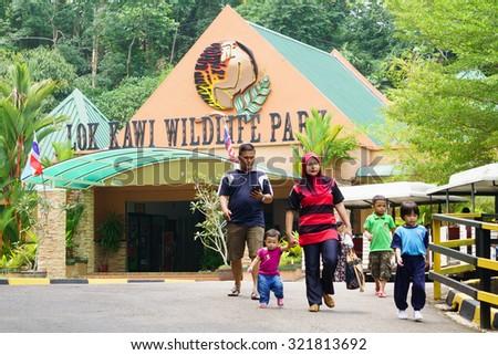 Kota Kinabalu Sabah Malaysia - September 29, 2015:People visiting Lok Kawi Zoo in Kota Kinabalu Sabah.The zoo is a treatment and rehabilitation centre for Sabah endengered animal like Orang Utan. - stock photo