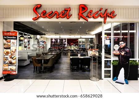 kota kinabalu sabah may 272017 the secret recipte outlet stock photo