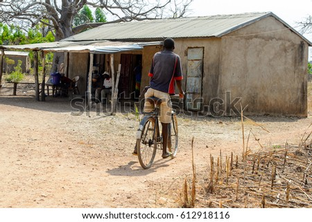 Typical Portuguese Rural House Bicycle Under Stock Photo 88185997