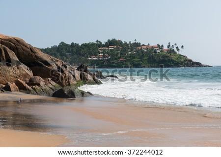 Kovalam Beach Serenity - stock photo