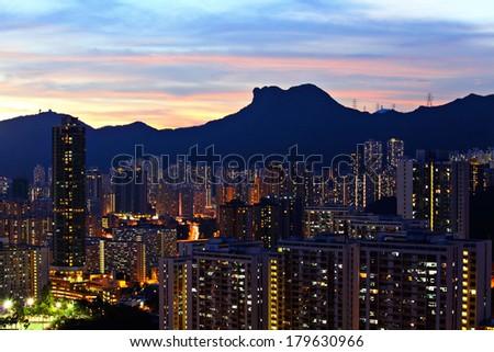 Kowloon side in Hong Kong - stock photo