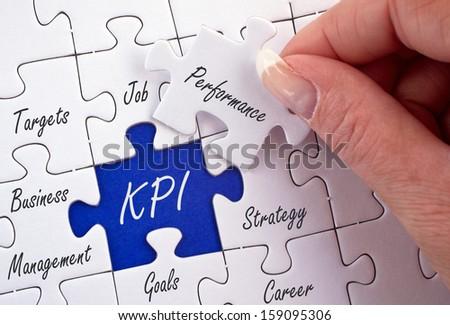 KPI - Key Performance Indicator - stock photo