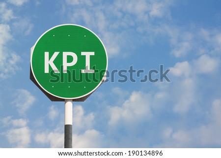 KPI Sign - stock photo