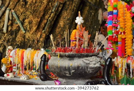 KRABI, THAILAND - March 19, 2015: Phra Nang Shrine Temple