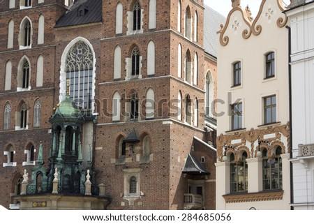 krakow central square  - stock photo