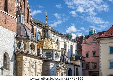 KRAKOW, POLAND/EUROPE - SEPTEMBER 19 : Wawel Cathedral in Krakow Poland on September 19, 2014