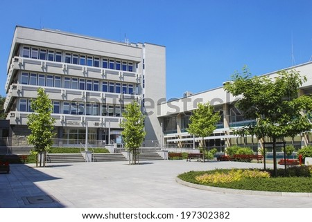 KRAKOW,POLAND - JUNE 08, 2014: AGH University of Science and Technology is one of the leading institutes of technology and the largest technical university in Poland.