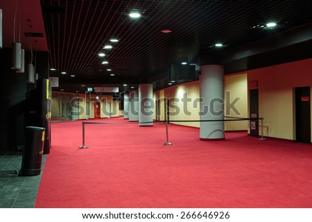 KRAKOW, POLAND - MARCH 17, 2015: . Tauron Arena Krakow is the biggest in Poland and one of the most modern in the world hall entertainment and sports venue.  Cracow, Poland