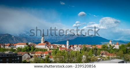 Kranj, Slovenia - Panorama view - stock photo