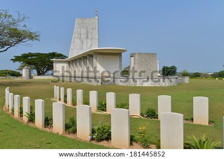Kranji War Memorial Of Singapore   - stock photo