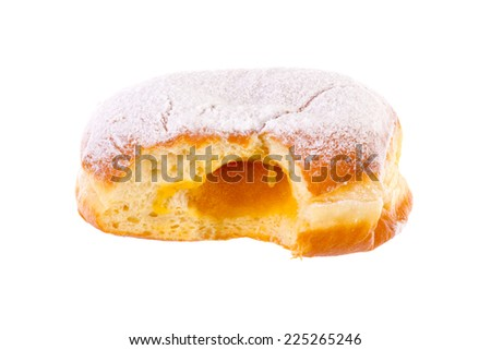 Krapfen Berliner Pfannkuchen Bismarck Donut brightened - stock photo