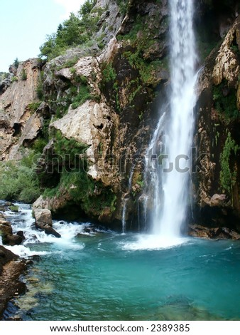 Krcic waterfall in south Croatia near Knin