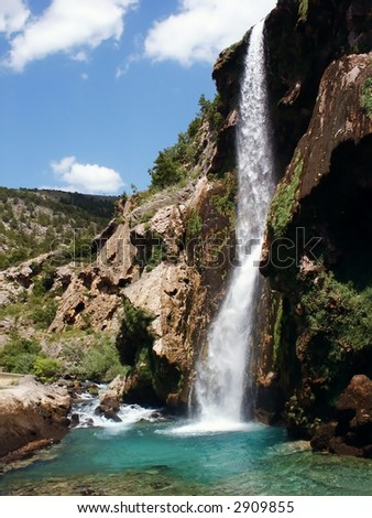 Krcic waterfall in south Croatia, near Knin - stock photo