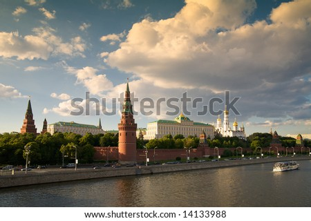 Kremlin's tower in Moscow. Russia