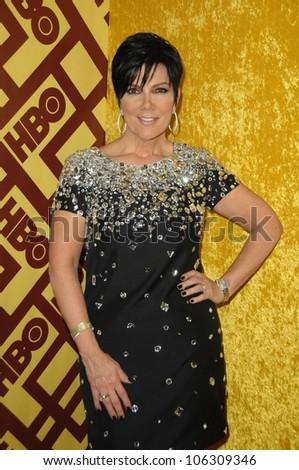 Kris Jenner  at the HBO Golden Globe Awards After Party. Circa 55 Restaurant, Beverly Hills, CA. 01-11-09