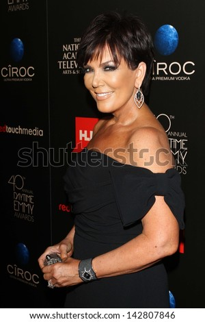 Kris Jenner at the 40th Annual Daytime Emmy Awards, Beverly Hilton Hotel, Beverly Hills, CA 06-16-13 - stock photo