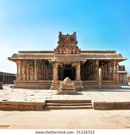 Krishna temple, Hampi, Karnataka state, India - stock photo